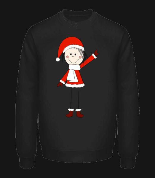 Christmas Girl - Unisex mikina - Čierna - Predné