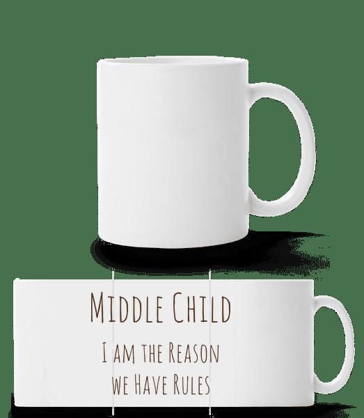Middle Child - Panorama Mug - White - Vorn