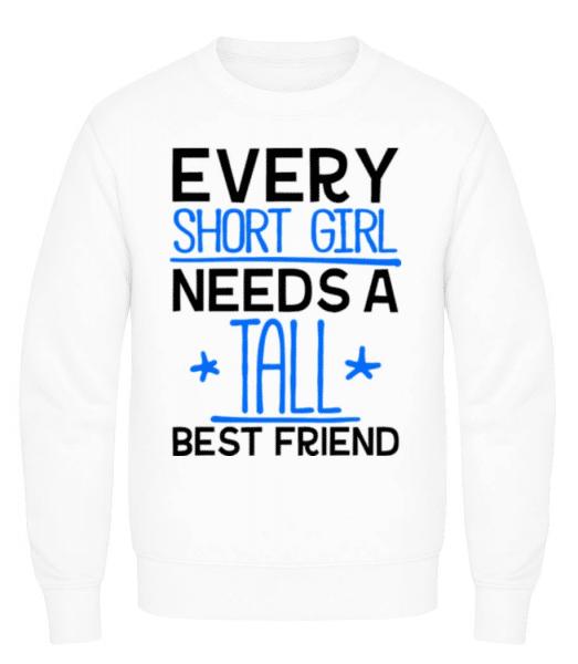 A Tall Best Friend - Men's Sweatshirt - White - Front