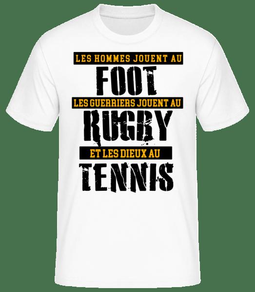 Les Dieux Jouent Au Tennis - T-shirt standard Homme - Blanc - Vorn