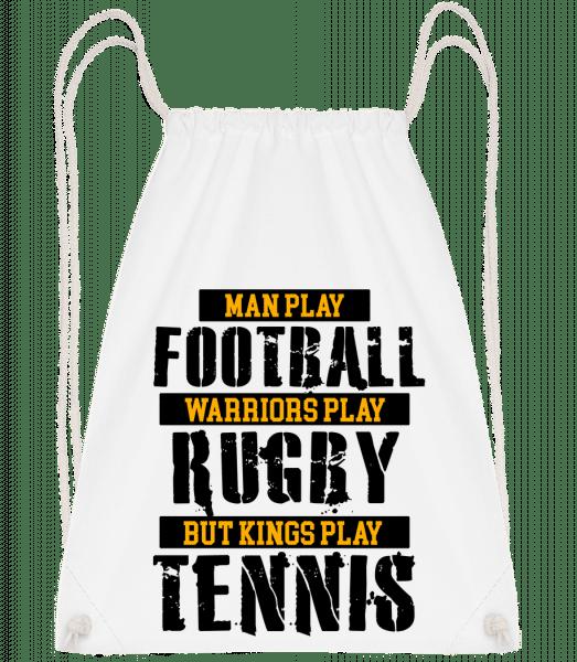 Kings Play Tennis - Drawstring Backpack - White - Vorn
