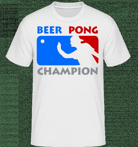 Beer Pong Champion -  Shirtinator Men's T-Shirt - White - Vorn