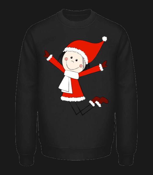 Christmas Girl - Unisex Sweatshirt - Black - Front
