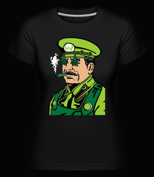 Mario Stalin Weed -  Shirtinator Women's T-Shirt - Black - Vorn