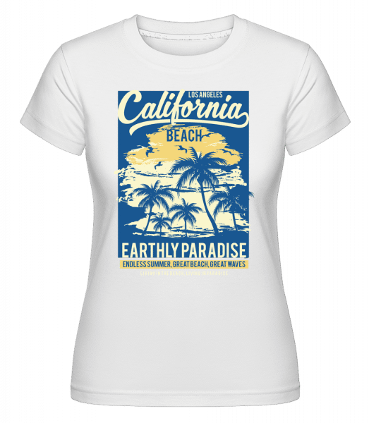 California Beach -  Shirtinator Women's T-Shirt - White - Front