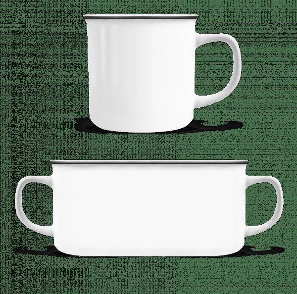 Enamel-cup - White - Vorn