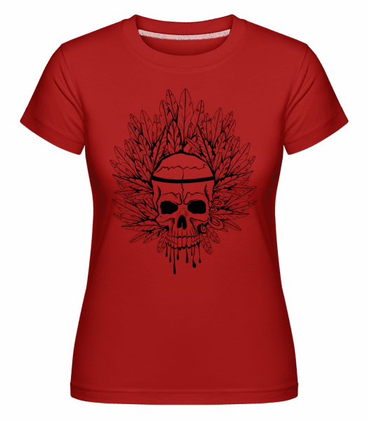 Skull Indian Tattoo -  Shirtinator Women's T-Shirt - Red - Vorn