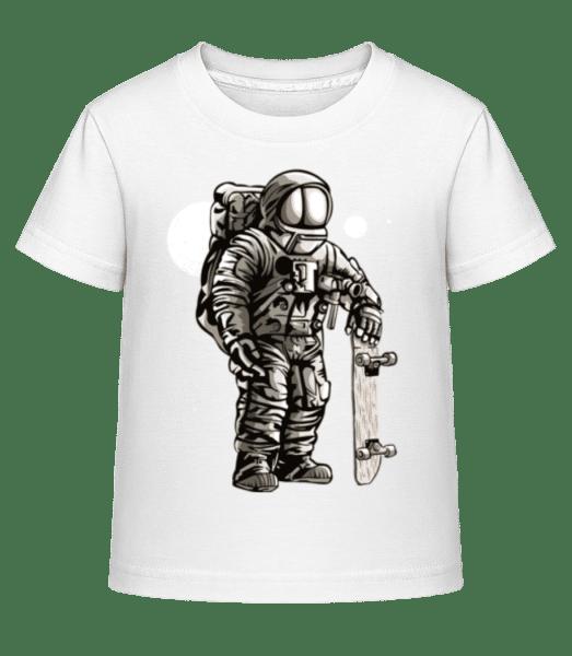 Astronaut Skater - Kinder Shirtinator T-Shirt - Weiß - Vorn