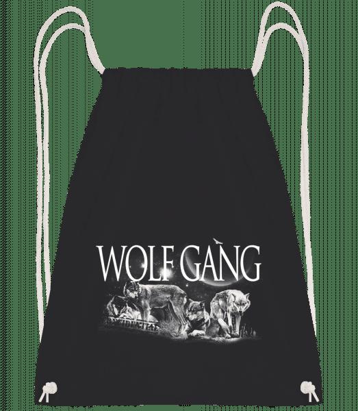 Wolf Gang - Drawstring Backpack - Black - Vorn