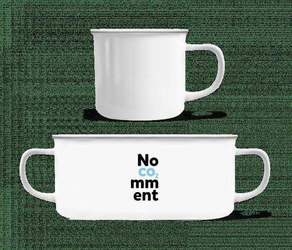 No Comment - Emaille-Tasse - Weiß - Vorn