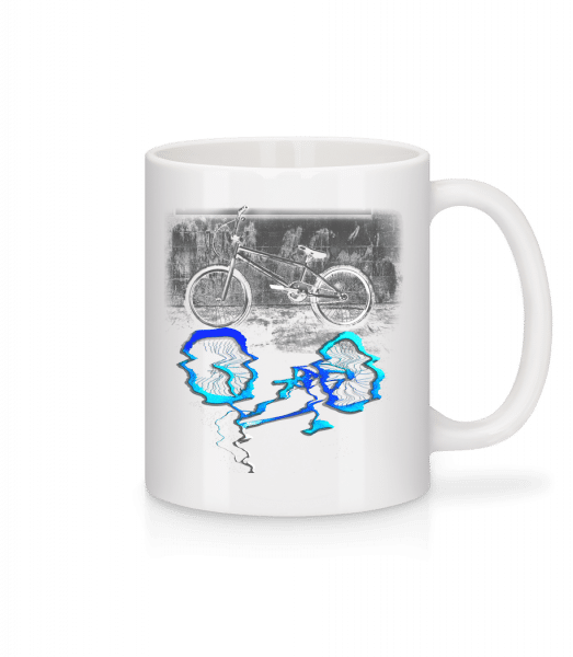 Bicycle Puddle - Mug - White - Vorn