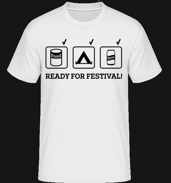 Ready For Festival -  Shirtinator Men's T-Shirt - White - Vorn