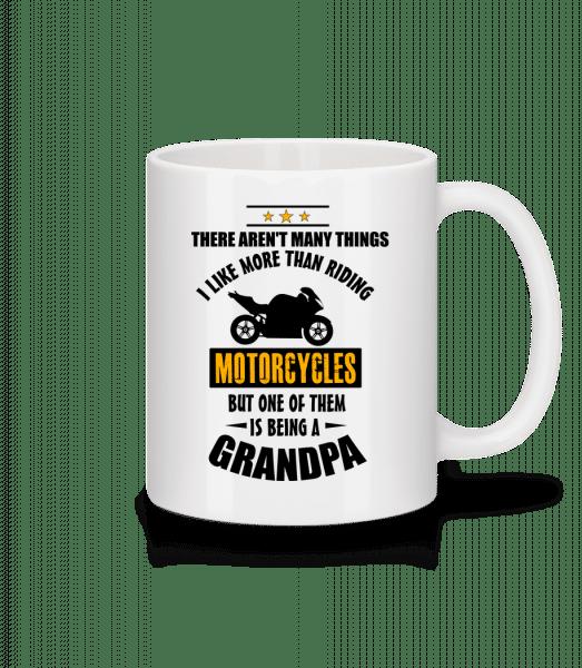 Biking Grandfather - Mug - White - Front