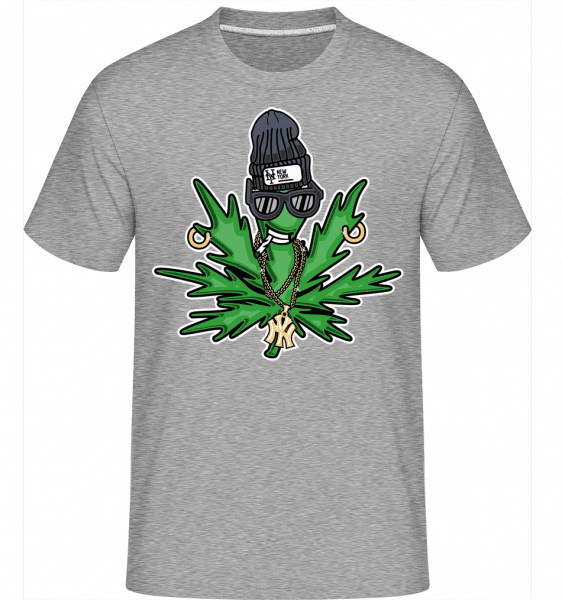 Weed Cartoon -  Shirtinator Men's T-Shirt - Heather grey - Vorn