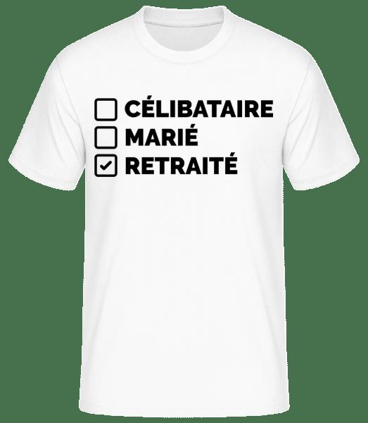 Retraité - T-shirt standard Homme - Blanc - Vorn