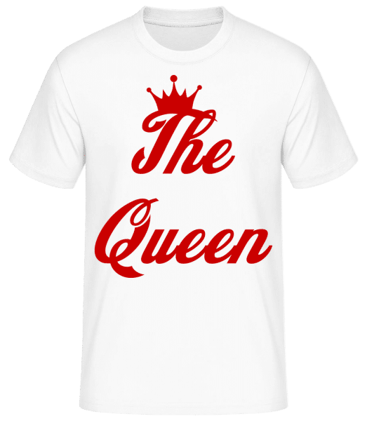 The Queen - Basic T-shirt - White - Vorn