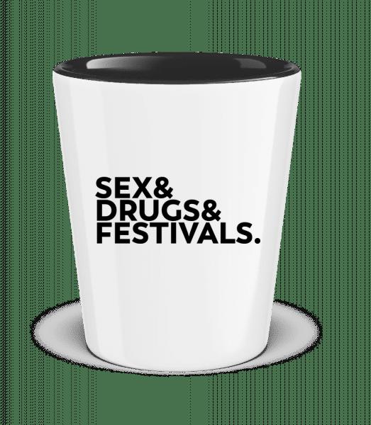 Sex Drugs Festivals - Verre à shoot bicolore - Blanc - Vorn