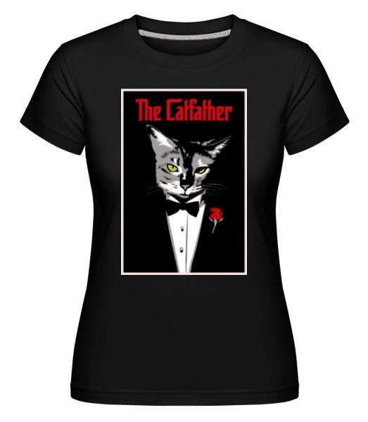 The Catfather -  Shirtinator Women's T-Shirt - Black - Front