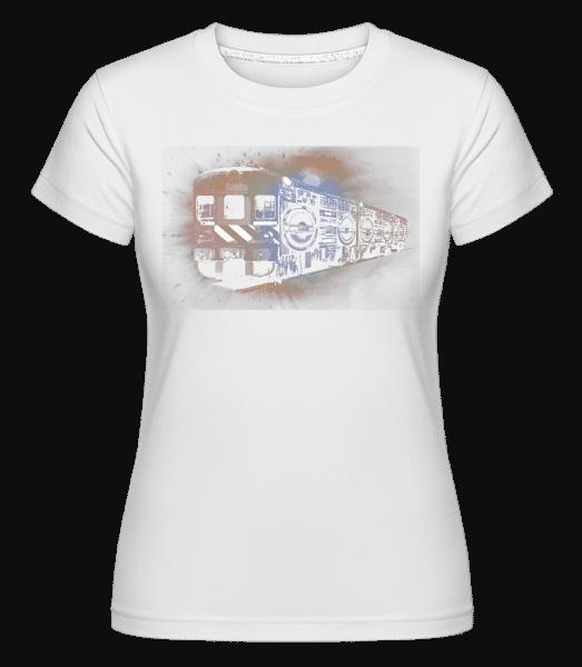 Ghetto Blaster Train -  Shirtinator Women's T-Shirt - White - Vorn