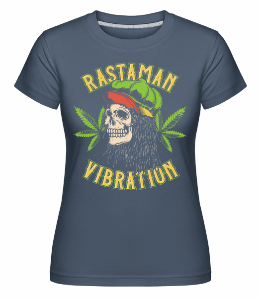 Rastaman Vibration -  Shirtinator Women's T-Shirt - Denim - Vorn