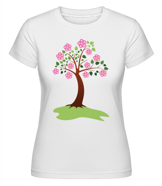 Apple Tree Spring -  T-shirt Shirtinator femme - Blanc - Vorn