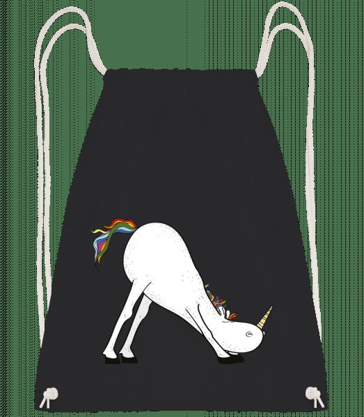 Yoga Unicorn The Slide - Drawstring Backpack - Black - Vorn