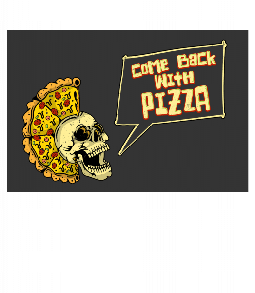 Come Back With Pizza - Doormat - White - Front