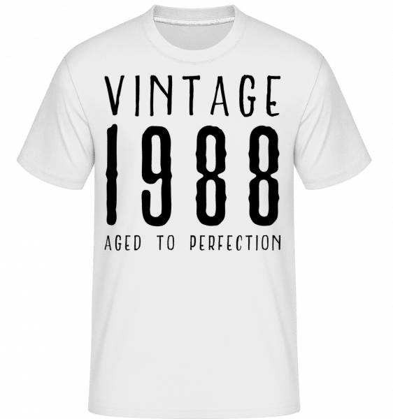 Vintage 1988 Aged To Perfection - Shirtinator Männer T-Shirt - Weiß - Vorn