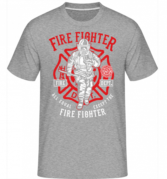 Fire Fighter -  Shirtinator Men's T-Shirt - Heather grey - Front