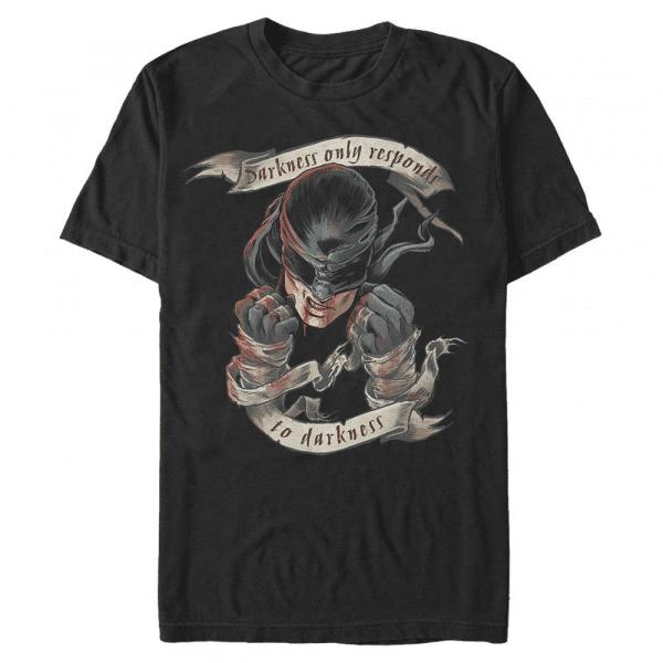 Darkness Revenge Daredevil - Marvel Defenders - Men's T-Shirt - Black - Front