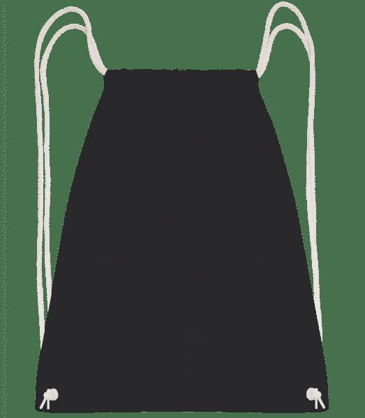 Turnbeutel - Schwarz - Vorn