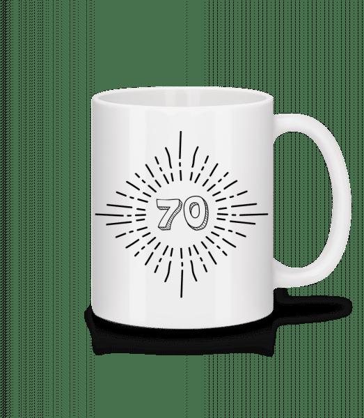 70er Geburtstag - Tasse - Weiß - Vorn
