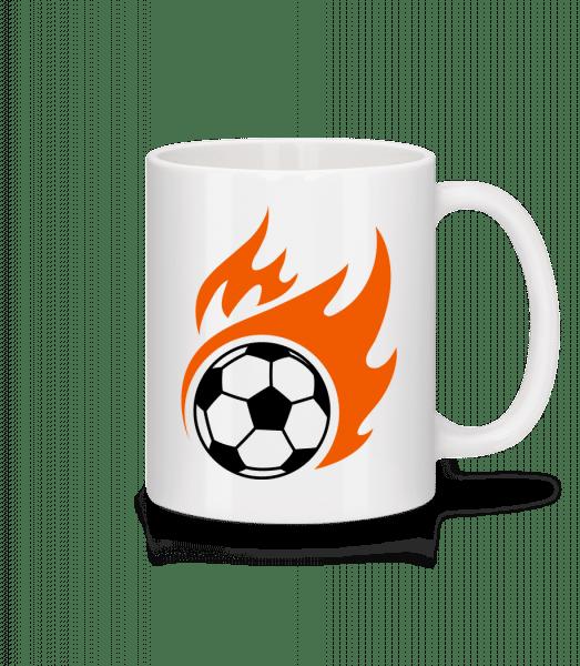 Football Flame - Mug - White - Vorn