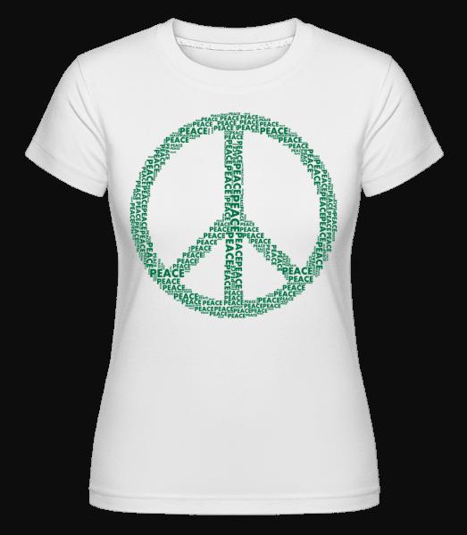 Peace Sign -  Shirtinator Women's T-Shirt - White - Vorn