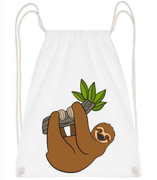 Sloth Hangs On The Branch - Gym bag - White - Vorn