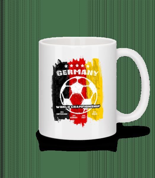 Germany World Championship - Keramický hrnek - Bílá - Napřed