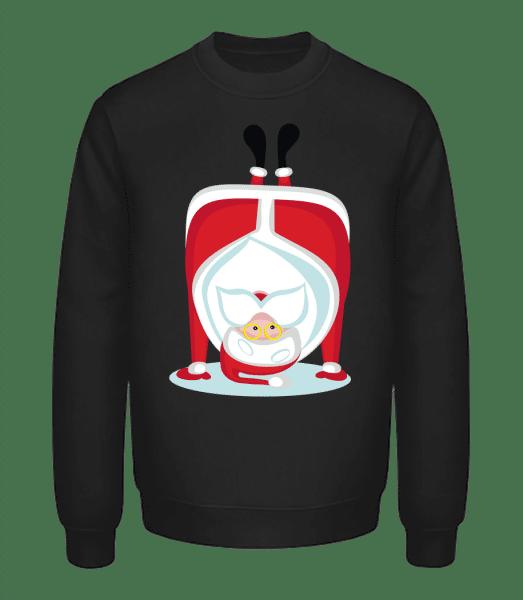 Poirier Père Noël - Sweatshirt Unisexe - Noir - Vorn