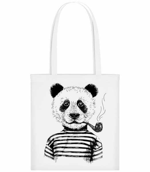 Hipster Panda - Carrier Bag - White - Vorn