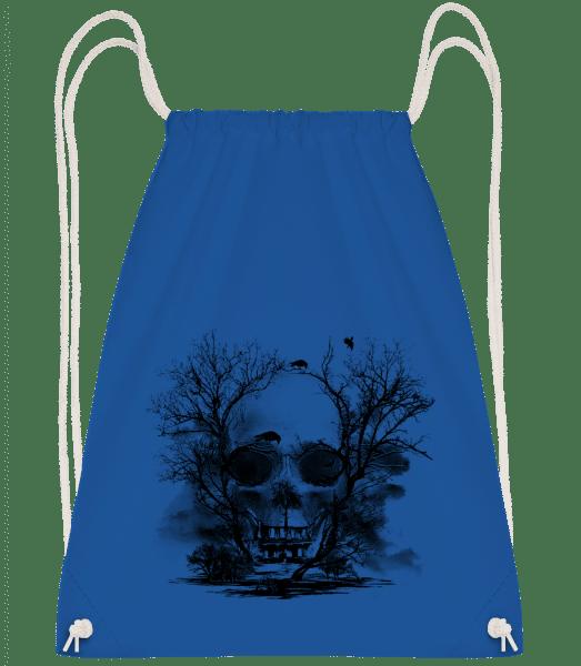 Death Trees - Drawstring Backpack - Royal blue - Vorn