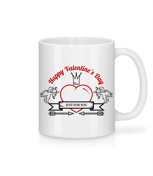 Happy Valentine's Day Icon - Mug - White - Vorn