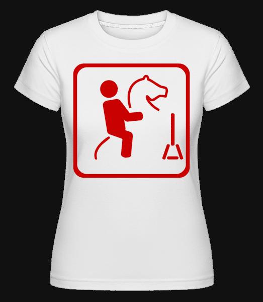 Reitsport Zeichen - Shirtinator Frauen T-Shirt - Weiß - Vorn