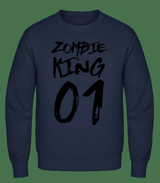 Zombie King - Classic Set-In Sweatshirt - Navy - Vorn