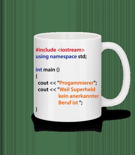 Ich Bin Programmierer - Tasse - Weiß - Vorn