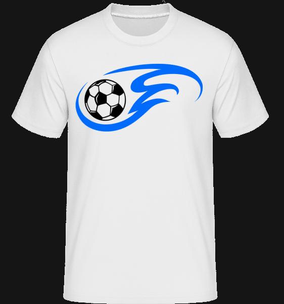 Football Flame -  Shirtinator tričko pre pánov - Biela - Predné