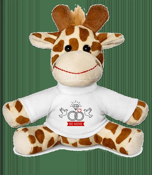 Valentine's Day Be Mine - Giraffe - White - Vorn