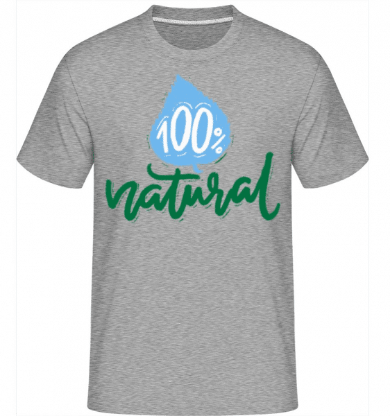100% Natural -  Shirtinator Men's T-Shirt - Heather grey - Front