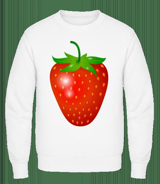 Strawberry - Classic Set-In Sweatshirt - White - Vorn