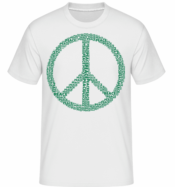 Peace Sign -  Shirtinator Men's T-Shirt - White - Vorn