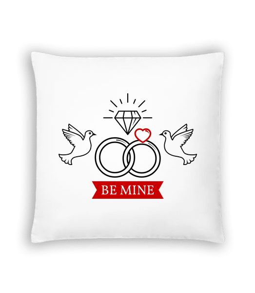Valentine's Day Be Mine - Cushion - White - Vorn
