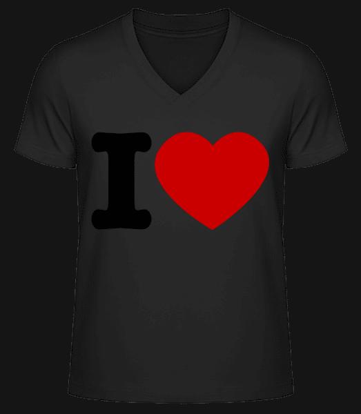 I Love Hearth - Men's V-Neck Organic T-Shirt - Black - Vorn